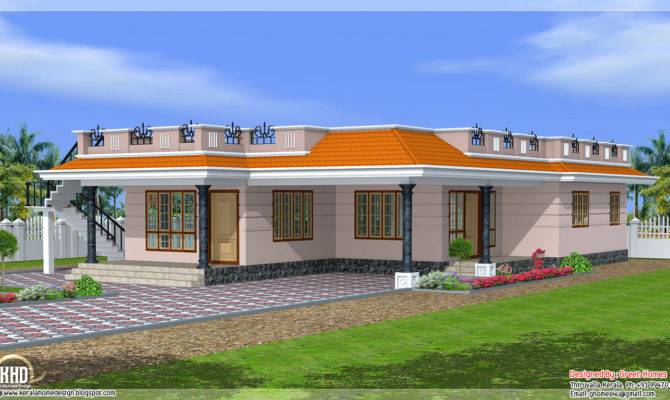 Single Storey Feet Home Design Kerala House Idea
