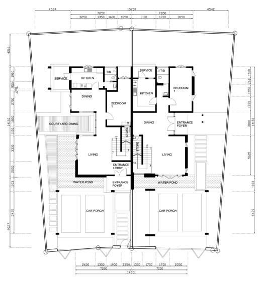 Single Storey Semi Detached House Plans Home Deco