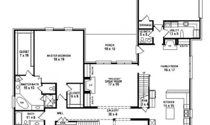 Single Story Bedroom House Plans Best