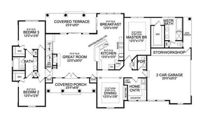 Single Story Bonus Room House Plans Pinterest