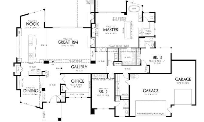 Single Story Contemporary Plan