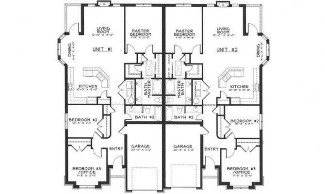 Single Story Duplex Floor Plans Ideas Pinterest