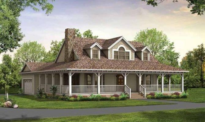 Single Story Farmhouse Wrap Around Porch Square Feet