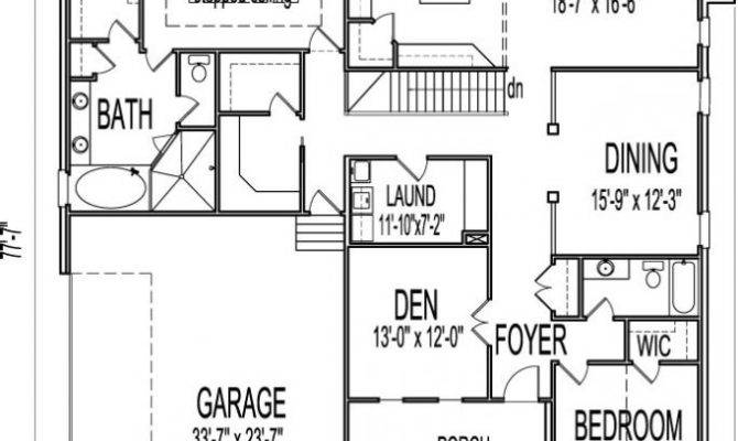 Single Story House Plans Basement New Bedroom