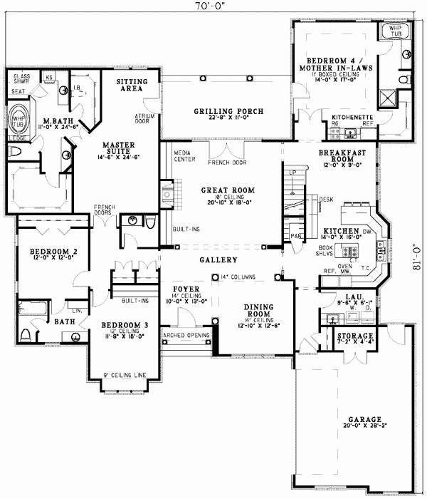 Single Story House Plans Mother Law Apartment