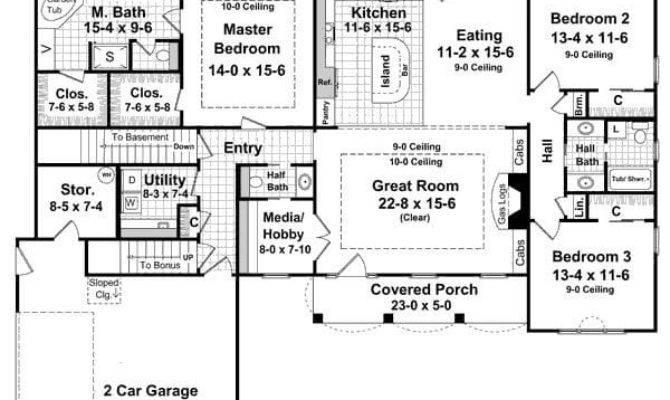 Single Story Walkout Basement House Plans Archives New