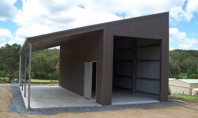 Skillion Roof Sheds Garages Designs Fair Dinkum
