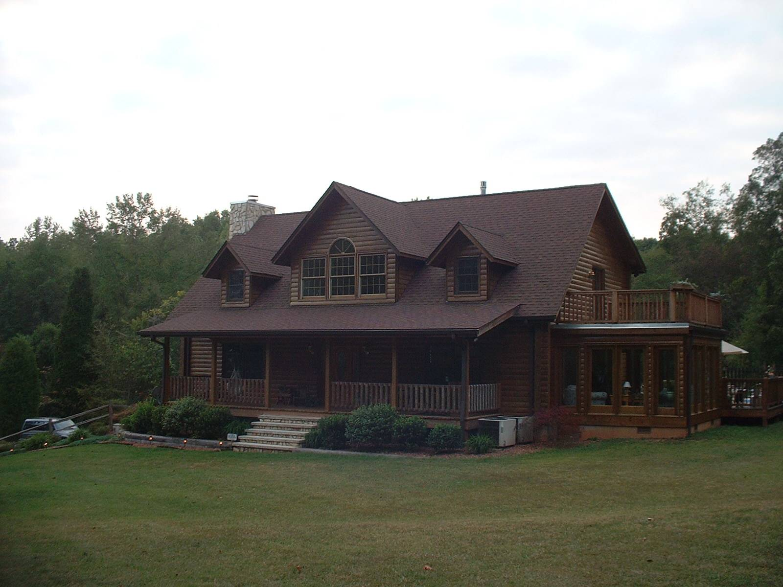 Sky Hawk Story Custom Log Home Plan
