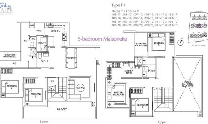 Skypark Residences Floorplan Bedroom Maisonette
