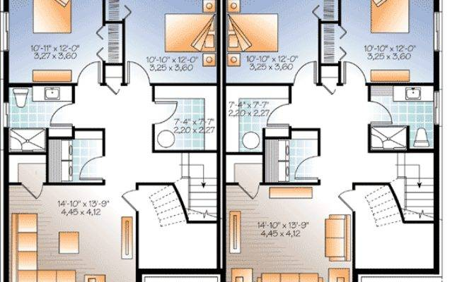 Sleek Modern Multi House Plan