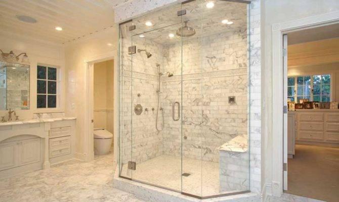 Sleek Simple Master Bathroom Shower Ideas Design