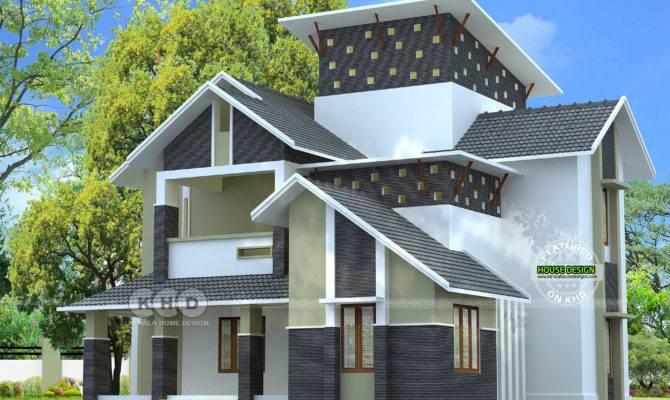 Slooping Roof Modern Sloping Home