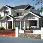 Sloped Roof House Elevation Design