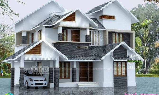 Sloped Roof House Plan Kerala Home Design