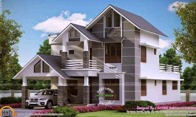 Sloped Roof House Plans India Youtube
