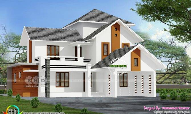 Sloping Roof House Bedrooms Kerala