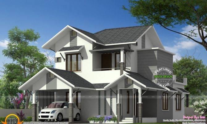 Sloping Roof House Kerala Keralahousedesigns