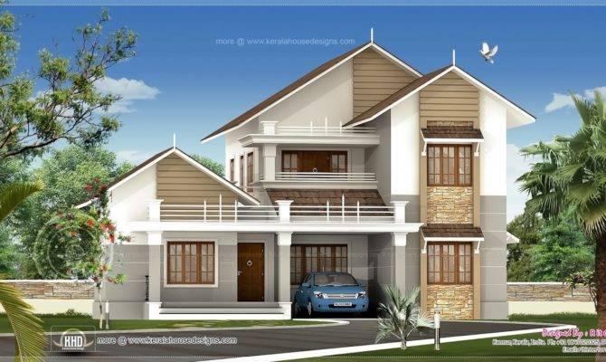 Sloping Roof Villa
