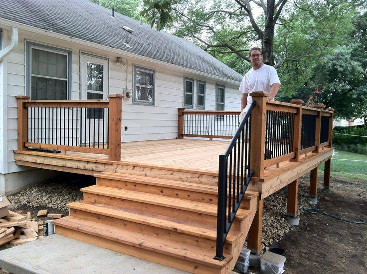 Small Back Deck Home Design Pinterest