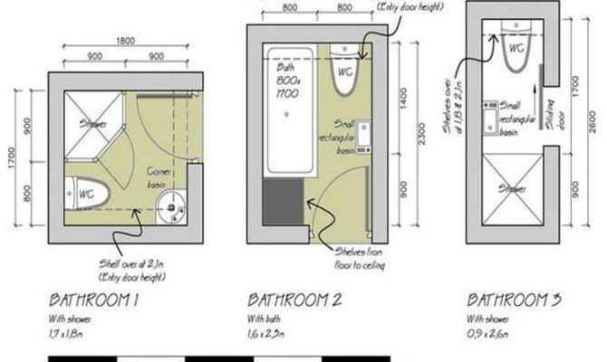 Small Bathroom Floor Plans Option Best Space