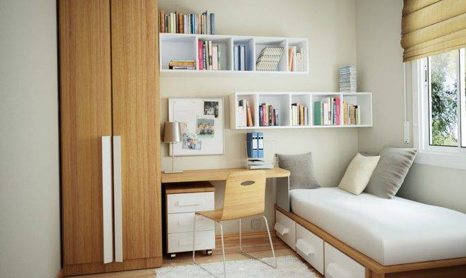 Small Bedroom Design Effective Space Concept Interior Fans