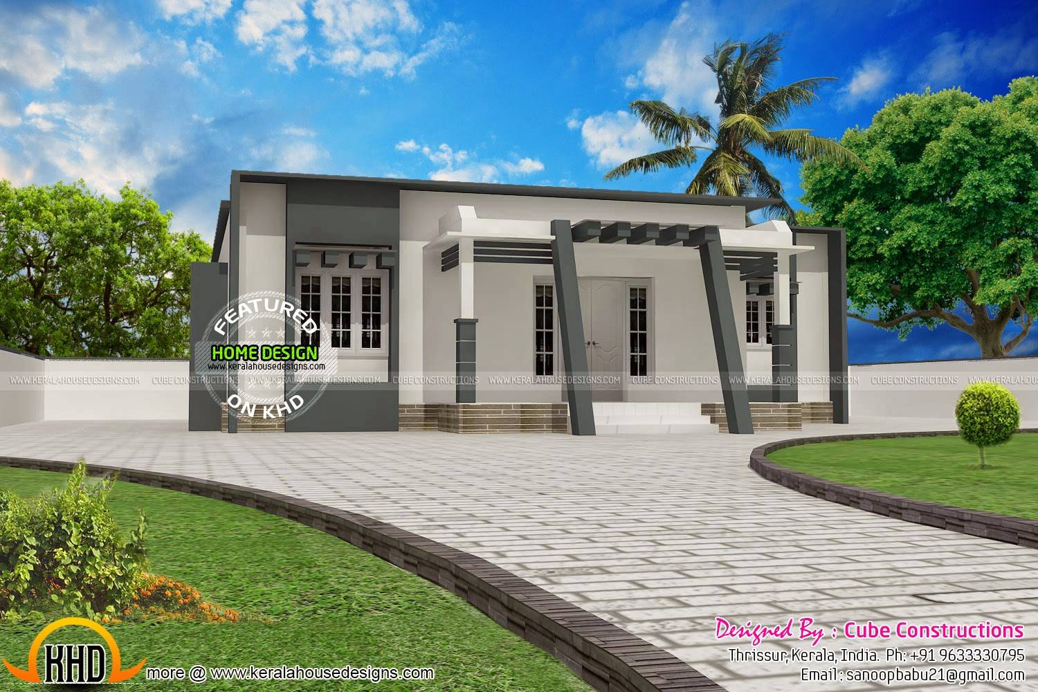 Small Budget Contemporary House Kerala Home Design