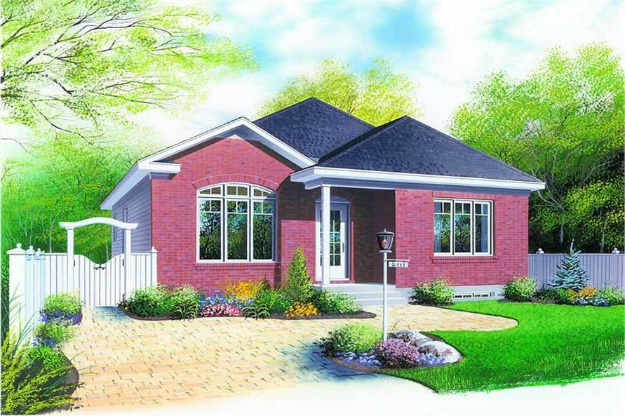 Small Bungalow Contemporary European House Plans Home