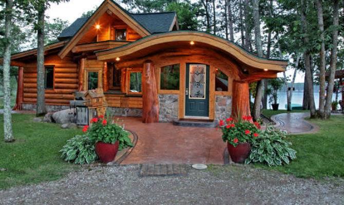 Small Cabin Built Unique Logs