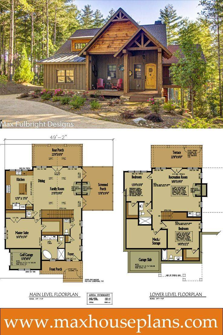 Small Cabin Home Plan Open Living Floor House