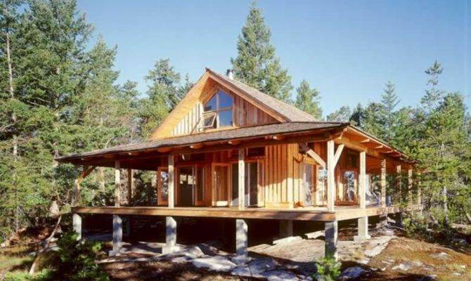 Small Cabin Plans Porch Cottage