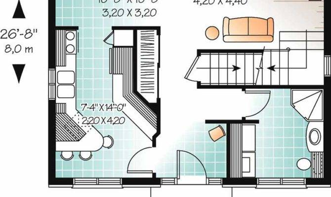Small Colonial European Historic House Plans