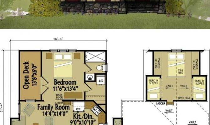 Small Cottage Floor Plan Loft Pinterest