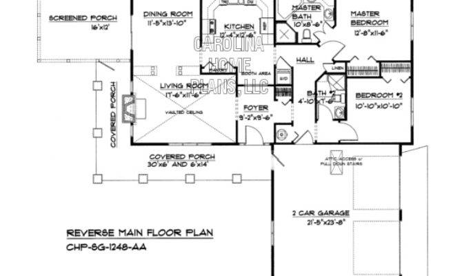 Small Country Ranch House Plan Chp