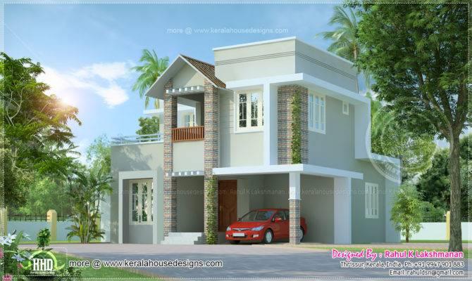 Small Cute Villa Square Feet Kerala Home Design Floor