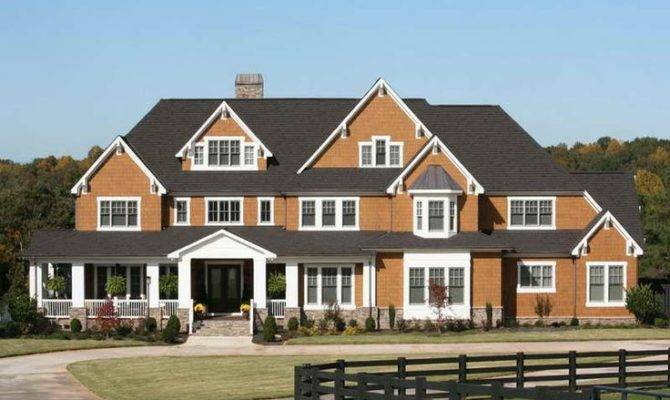 Small Farmhouse Plans Wrap Around Porch Brown Color