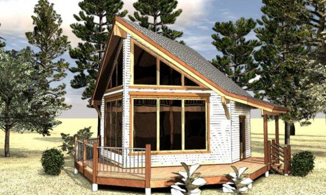 Small Frame Cabin House Plan Loft