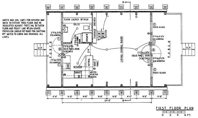 Small Frame Cabins Floor Plans