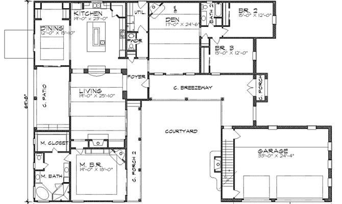 Small Hacienda Style Home Plans Houses Designs