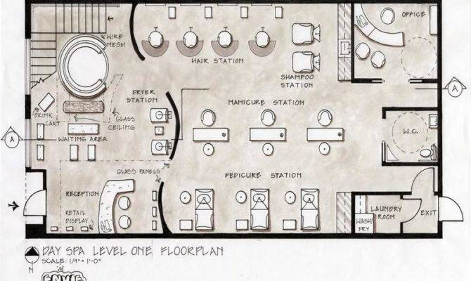 Small Hair Salon Layouts Floor Plans Day Spa