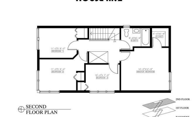 Small House Plans Bedroom Bath Twostory