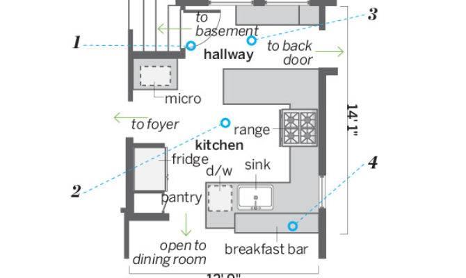 Small Kitchen Floor Plans Galley Afreakatheart