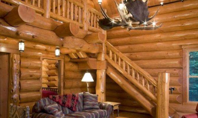 Small Log Cabins Living Room Design Ideas Remodels