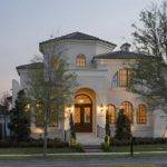Small Mediterranean Homes Cream Wall Paint Color