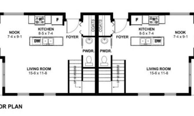 Small Narrow Lot Duplex House Plan Hunters