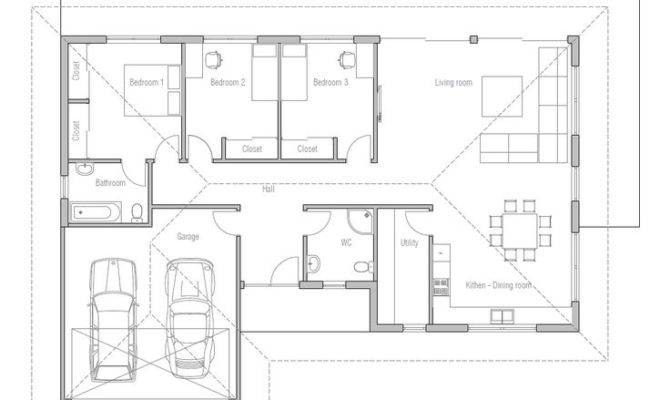 Small One Story House Floor Plans Design Open