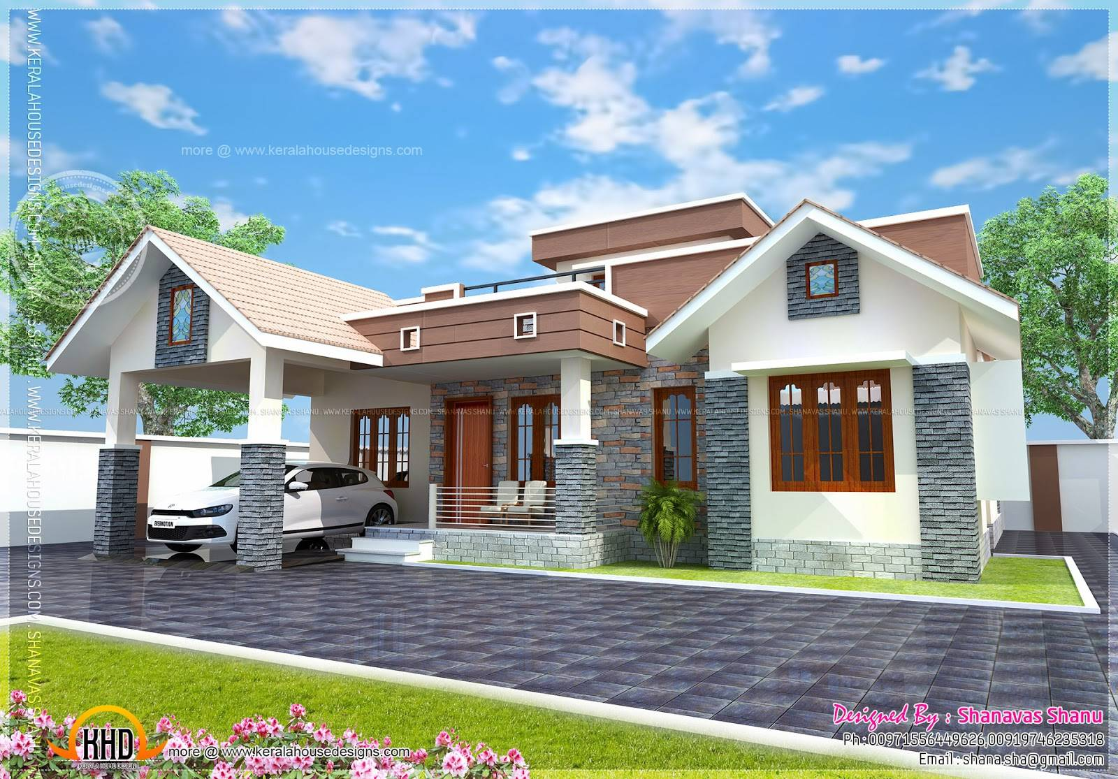 Small Single Floor House Plan Kerala Home