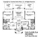 Small Stone Cottage House Plan Chp