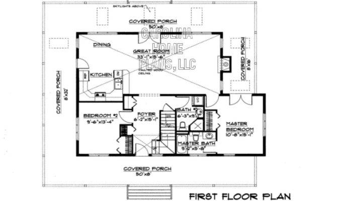 Small Story Open House Plan Chp