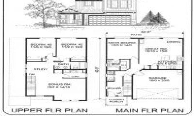 Small Two Story House Plans Simple Storey