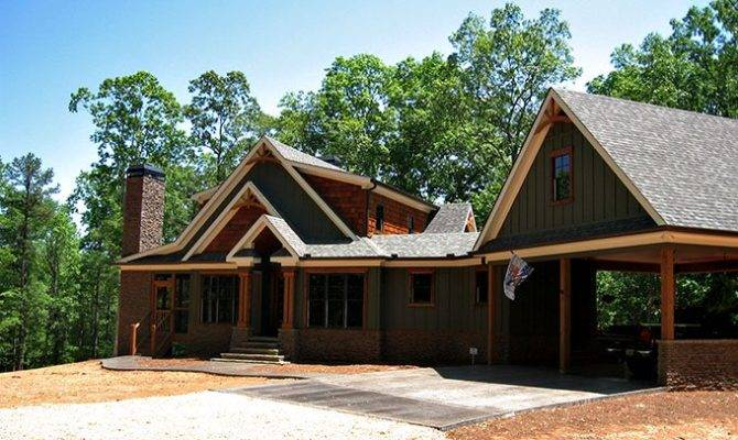 Smoky Mountain Cottage Crafstman Rustic House